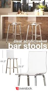iNSPIRE Q Miles Clear Acrylic Swivel Bar Stools (Set of 2)