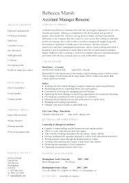 Resume Examples For Assistant Manager Resume Letter Collection