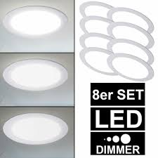 Arbeits Lampen Einbau Dimmbar Leuchten Panel Decken Set 8er