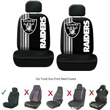 nfl oakland raiders car truck seat covers seatbelt pads steering wheel cover 1925996793