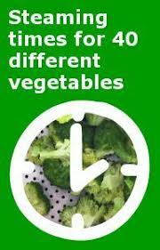 Vegetable Steaming Times Chart Guide To Cooking