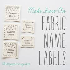 Diy Clothing Label Make Diy Iron On Fabric Name Labels The Diy Mommy