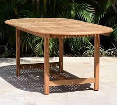 nassau oval teak outdoor dining table