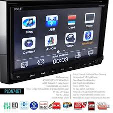 pyle pldn74bt headunit receiver 7 inch stereo radio bluetooth cd pyle headunit receiver stereo radio bluetooth cd dvd player touch screen double din the pyle bluetooth receiver head unit