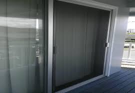 silver sliding screed door