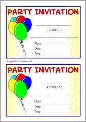 Party Invitaion Templates Party Invitation Templates Sb3552 Sparklebox