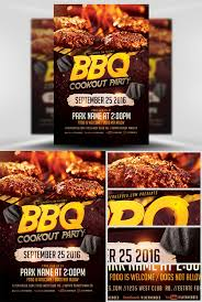 Flyer Template Bbq Cookout Party Nitrogfx Download