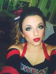 cheer makeup red lips big cheer bows cheer p and pony l cheerleading red lipstick
