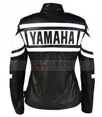 black and white motorcycle jacket yamaha