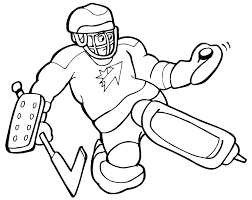 Sports Coloring Pages Hockey Goaltender Coloringstar