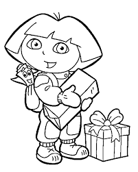 Dora The Explorer Coloring Page For