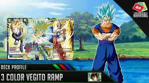 dragon ball super card game dbs tcg 3 color vegito r deck profile