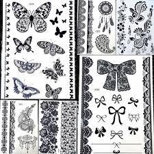 25 конструкции для детей с принтом бабочка хна временная тату