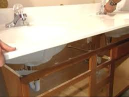 removing the vanity