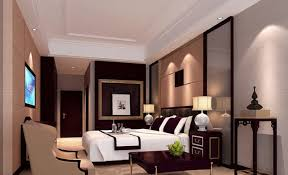 Bedroom:Asian Bedroom Interior With Feng Shui Urniture Also Black And Beige  Walls Also Coffee