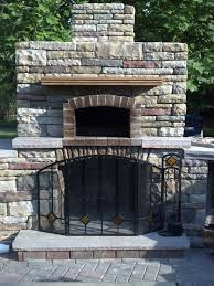 outdoor fireplace and outdoor oven