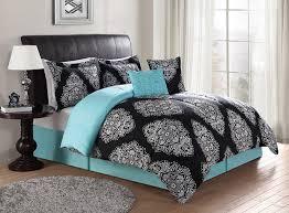 aqua blue and black bedding designs