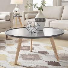 how to decorate and accessorize mid century round coffee table