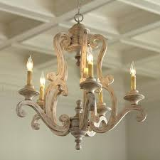 french shabby distressed white wood chandelier orb medium chandeliers distresse