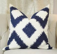 blue and white pillows. Plain White With Blue And White Pillows I