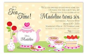 invitation for a party tea party invitation wording kawaiitheo com
