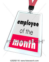 Employee Of The Month Award Employee Of The Month Badge Name Tag Top Performer Award Stock Photograph