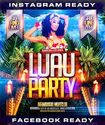 Luau Flyer Luau Party Flyer Under Fontanacountryinn Com