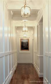 lighting for hallways and landings. Opal-design-group-wainscoting-hall-coffered-ceiling-brass- Lighting For Hallways And Landings