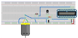 build an object detection dc motor controller the complete object detection dc motor controller wiring diagram assembled on a erless breadboard notice the removal of the tactile pushbutton switch