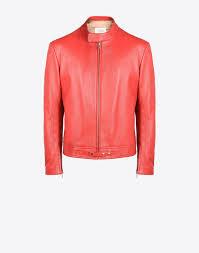 maison margiela 14 sports jacket in ovine leather leather jacket man f