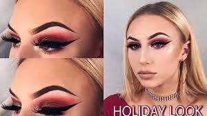 holiday inspired makeup look tutorial
