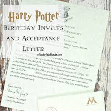 letter of invitation birthday harry potter birthday invitations and authentic acceptance letter letter of invitation birthday