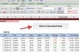 Yahoo Stock Quote Mesmerizing How To Import Share Price Data Into Excel Market Index