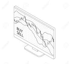 Forex Stock Chart Isometry Computer Laptop And Smartphone With