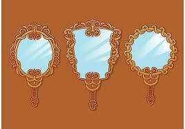 hand mirror drawing. Mirror Clipart Vector Hand Drawing