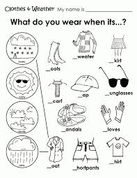 Small Picture Free Coloring Pages Of Clothing Worksheet Weather Coloring Sheets