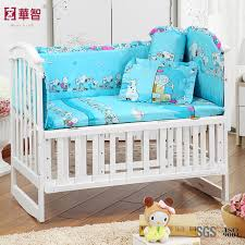china blue printing baby bedding sets with snoopy china crib per blue fitted sheet