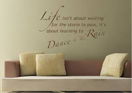 Wall Decal Quotes Cool Matt Wall Sticker Learn To Dance In The Rain Text Quotes Vinyl DEF