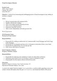 sample investigator resume resume ideas