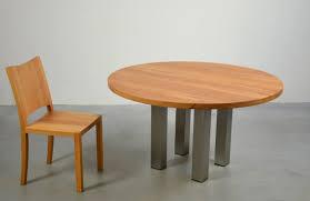 Tischfabrik24 Massivholz Esstisch Turin Rund Edelstahl Und Buche