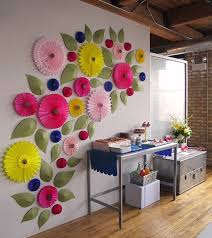 Wall Decoration Paper Design giant paper flowers what a fun wall Parties Pinterest Giant 3
