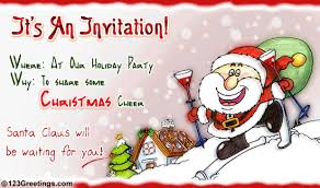 Christmas Invitation Card Holiday Invitation Free Invitations Ecards Greeting Cards