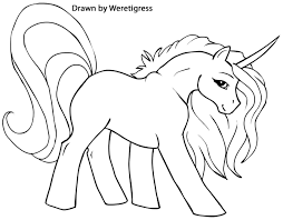Small Picture My Little Pony Unicorn Coloring Pages GetColoringPagescom