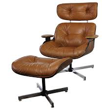 mid century modern plycraft eames style lounge chair and ottoman at 1stdibs