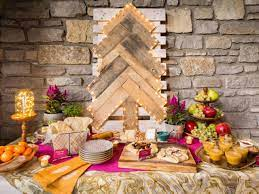 How to create height on a buffet table. How To Set Up A Gorgeous Buffet Table For Your Holiday Party Hgtv S Decorating Design Blog Hgtv