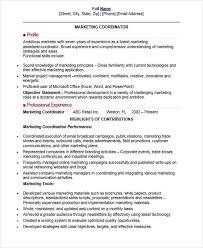 Marketing Coordinator Resume Sample Classy 48 Professional Marketing Resume Templates PDF DOC Free