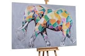 XXL <b>oil painting elephant</b> animal | KunstLoft