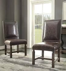 distressed leather dining chairs extraordinary home upholstered chair reviews interior wayfair white room
