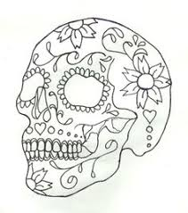 Small Picture Day Of The Dead Coloring Pages For Adults skull coloring pages