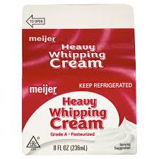 meijer fresh whipping cream 8 fl oz